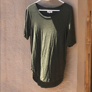 Madewell forrest green top